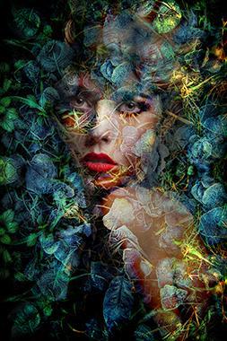 "Tableau ""Blue Autumn camouflage"""