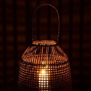 Lanterne en Cloche Bambou Marron