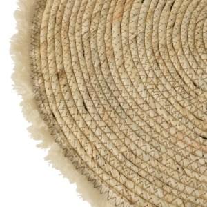 Set De Table Floche Ecorce De Maïs et Coton Beige