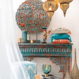 Vase Malou Verre Pêche/Turquoise