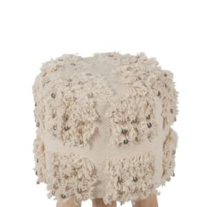 Tabouret Coton Blanc