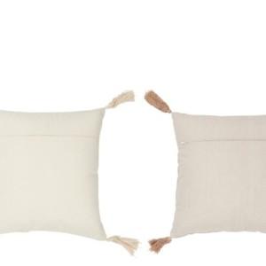 Set de 2 Coussins Floche Coton Beige/Nude