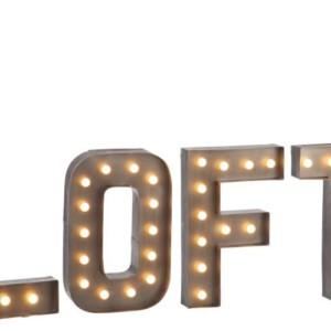 Lettres LOFT à Leds Metal Gris