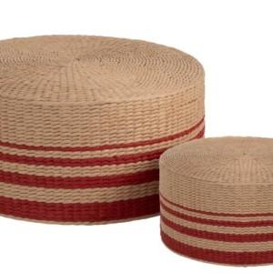 Set de Pouf Rond Bambou