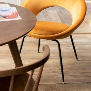 Chaise Ronde Jaune Ocre