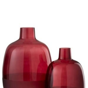 Vase Catia 1/2 Mat Verre Rouge Fonce