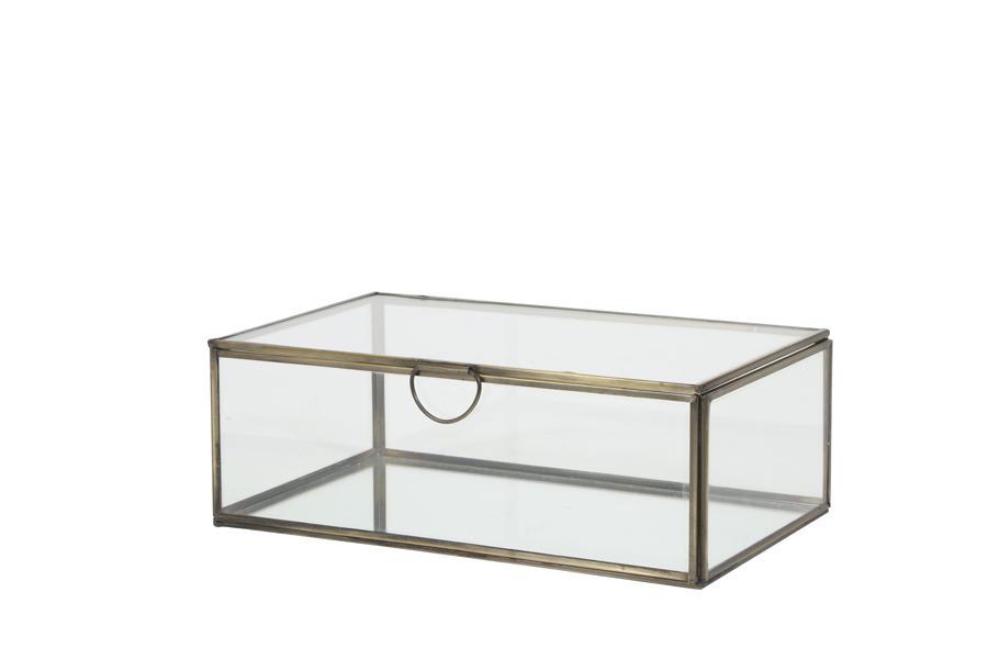 Boîte transparente ALESSINA bronze
