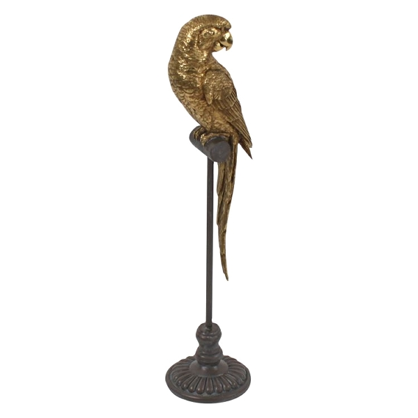 Sculpture Perroquet Gold