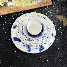 Assiette à dessert en porcelaine Marine