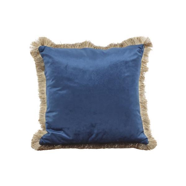Coussin VELVET bleu